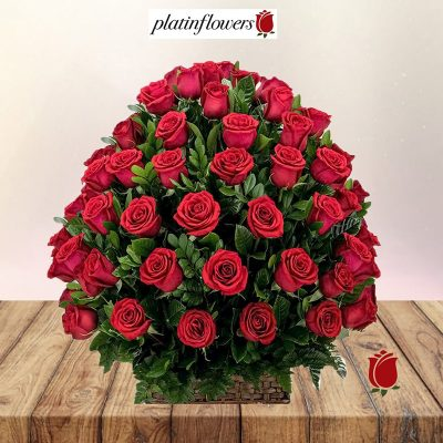 arreglo 96 rosas rojas