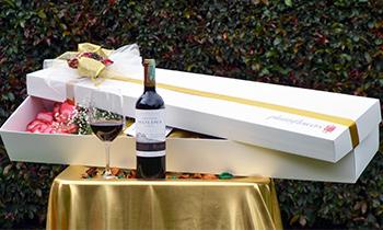 flores con vinos licores